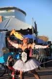 USA, AZ: Street Artist - Fire Breathing/Ignition Royalty Free Stock Photo