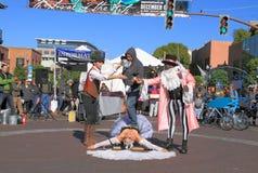 USA, AZ: Street Artists 6 - Endurance Test Royalty Free Stock Photo