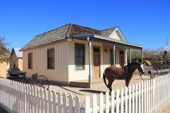 USA AZ/Tombstone: Gammalt västra - Wyatt Earp House Royaltyfri Fotografi