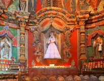 USA, AZ/Tucson - Our Lady of Guadalupe - Altar. This is the Chapel of the Sorrowful Mother at San Xavier del Bac with >Our Lady of Guadalupe Stock Photography