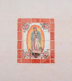 USA, AZ/Tucson: Our Lady of Guadalupe - Tile Mosaic Stock Photo