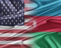 USA and Azerbaijan. Stock Photos