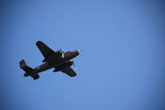 USA B-25 bomber flies over 1 Royalty Free Stock Photography