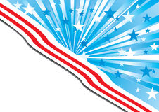 USA background 3. Background with elements of American flag, with the place for your text,  Illustration additional Royalty Free Stock Photography