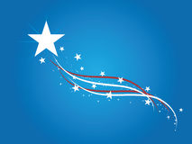 USA Background. A Blue American Patriot Background with stars and and swirl stripes Stock Photos