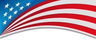 USA Background. USA banner background horizontal with space for copy Stock Photos
