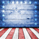 USA background. USA colors empty interior room with free space for text or product displays Royalty Free Stock Image