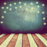 USA background. USA colors empty interior room with free space for text or product displays Stock Photo