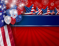 USA background design of American flag. For 4 july independence day or other celebration Stock Photos