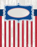 Usa background with one decorative label,  Stock Image