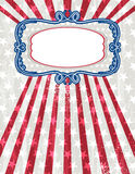 Usa background with one decorative label stock image
