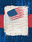 Usa background with one decorative label Royalty Free Stock Photo