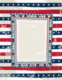 Usa background with one decorative label, vector royalty free stock photos