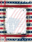Usa background with one decorative label, vector stock photos