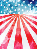 USA background template. Patriotic Independence Day background. Modern design concept inspired by the USA flag that includes a watercolor texture Royalty Free Stock Photography