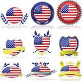 USA badges Royalty Free Stock Image