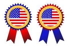 USA badges. Illustration on white Stock Images