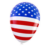 USA Balloon. American flag balloon. Clipping path included for easy selcetion Stock Images