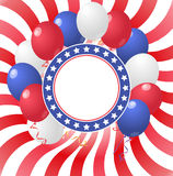 Usa balloons Royalty Free Stock Image