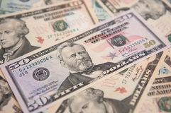 USA-Banknoten Stockfotografie