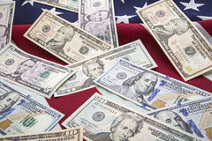 USA banknotes money flag background Stock Photography