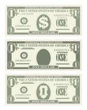USA bankrörelsevaluta, kontant symbol 1 dollar räkning Royaltyfria Foton