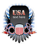 USA Banner. Abstract Standing Banner With Colors of the Untied States' Flag vector illustration