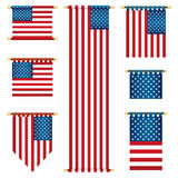 Usa Banners Royalty Free Stock Image