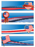 Usa banners Royalty Free Stock Photo