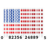 USA bar code Stock Photo