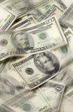 USA-Bargeld mit Bewegung Lizenzfreie Stockbilder