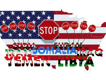 USA barred citizens of seven Muslim-majority countries from entering USA Stock Photo