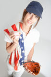USA baseball fan Stock Photography