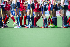 USA beats England during the Hockey World Cup 2014 Royalty Free Stock Photography