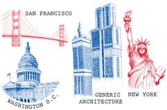 USA-berühmte Städte Lizenzfreie Stockfotografie