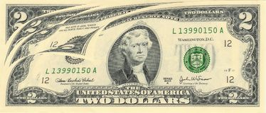 USA bill. macro. Stock Photos