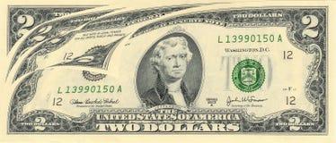 USA bill. macro. Four USA bill macro on white Stock Photos