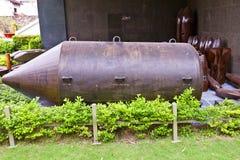 USA BLU-82B bomba. Wojenny szczątka muzeum, Ho Chi Minh Obraz Royalty Free
