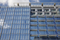 USA. Blue mirror glass facade skyscraper buildings city Stock Photography