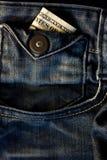 USA-bockar i ett jeansfack Arkivfoton