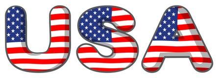USA bokstäverna Royaltyfri Fotografi