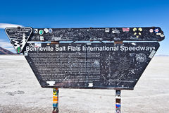 USA - Bonneville salt flats Royalty Free Stock Photo