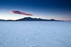 USA - Bonneville salt flats Stock Image