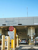 USA border inspection station. US border inspection station in El Paso, Texas - Juarez, Mexico. International Cordova Bridge of the Americas. Photo taken 4/21/ Stock Images