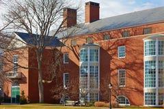 USA, Boston, 02.04.2011: Harvard University, Aldrich, Spangler, students. Harvard University Aldrich students panorama sunny day Royalty Free Stock Photos