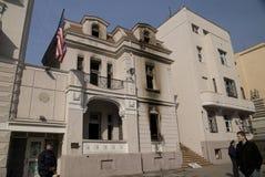 USA-Botschaft in Belgrad Stockbilder