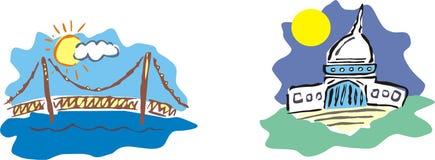 Usa bridge house Stock Images