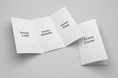 USA broszurki 3D Listowy trifold ilustracyjny mockup z siatką Żadny 1 Obraz Royalty Free