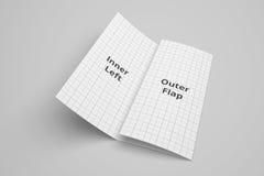 USA broszurki 3D Listowy trifold ilustracyjny mockup z siatką Żadny 2 Zdjęcia Stock