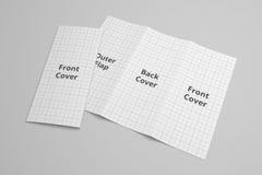 USA broszurki 3D Listowy trifold ilustracyjny mockup z siatką Żadny 6 Zdjęcia Stock